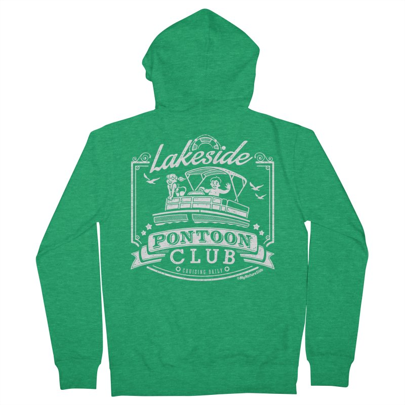 Lakeside Pontoon Club Men's Zip-Up Hoody by My Nature Side