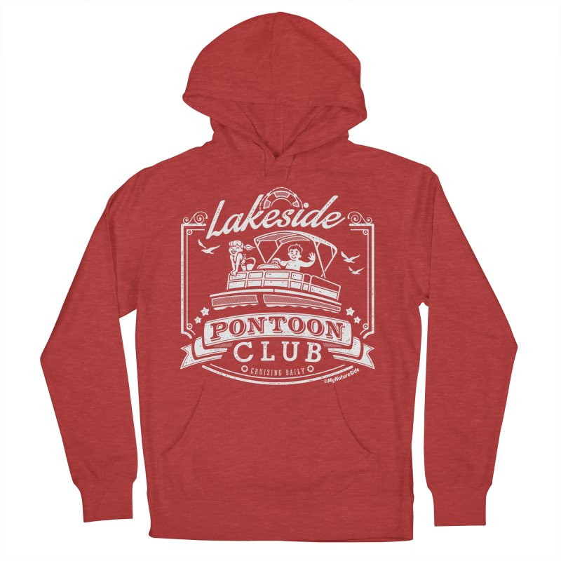 Lakeside Pontoon Club Men's French Terry Pullover Hoody by My Nature Side