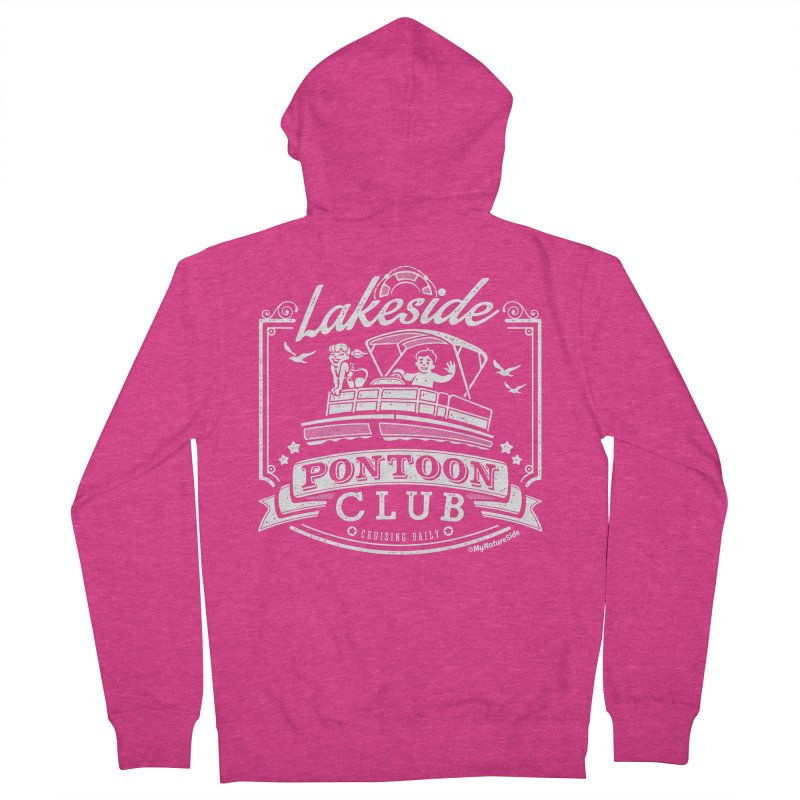 Lakeside Pontoon Club Women's French Terry Zip-Up Hoody by My Nature Side