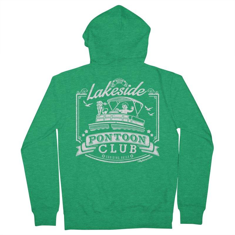 Lakeside Pontoon Club Men's Zip-Up Hoody by My Nature Side