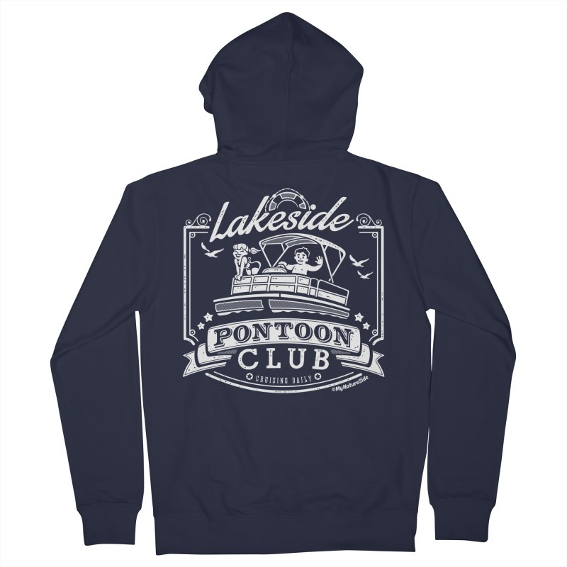 Lakeside Pontoon Club Men's French Terry Zip-Up Hoody by My Nature Side