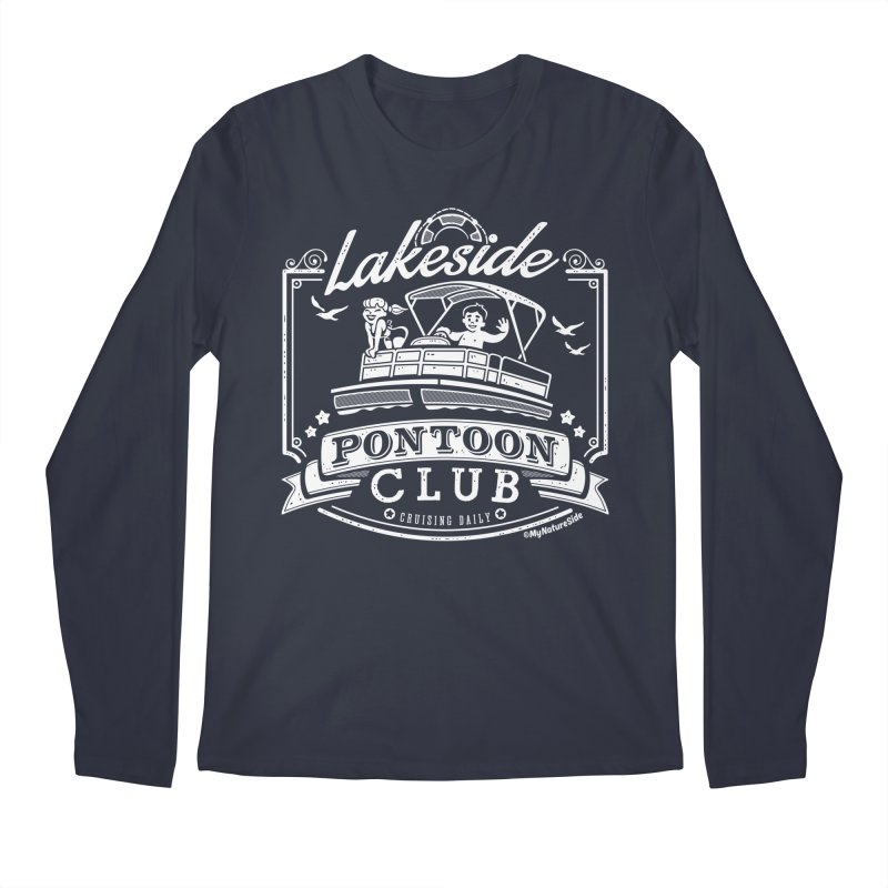 Lakeside Pontoon Club Men's Regular Longsleeve T-Shirt by My Nature Side