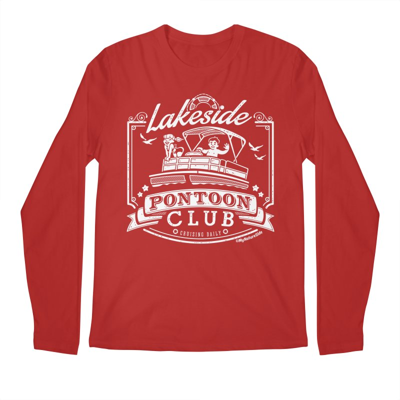 Lakeside Pontoon Club Men's Longsleeve T-Shirt by My Nature Side