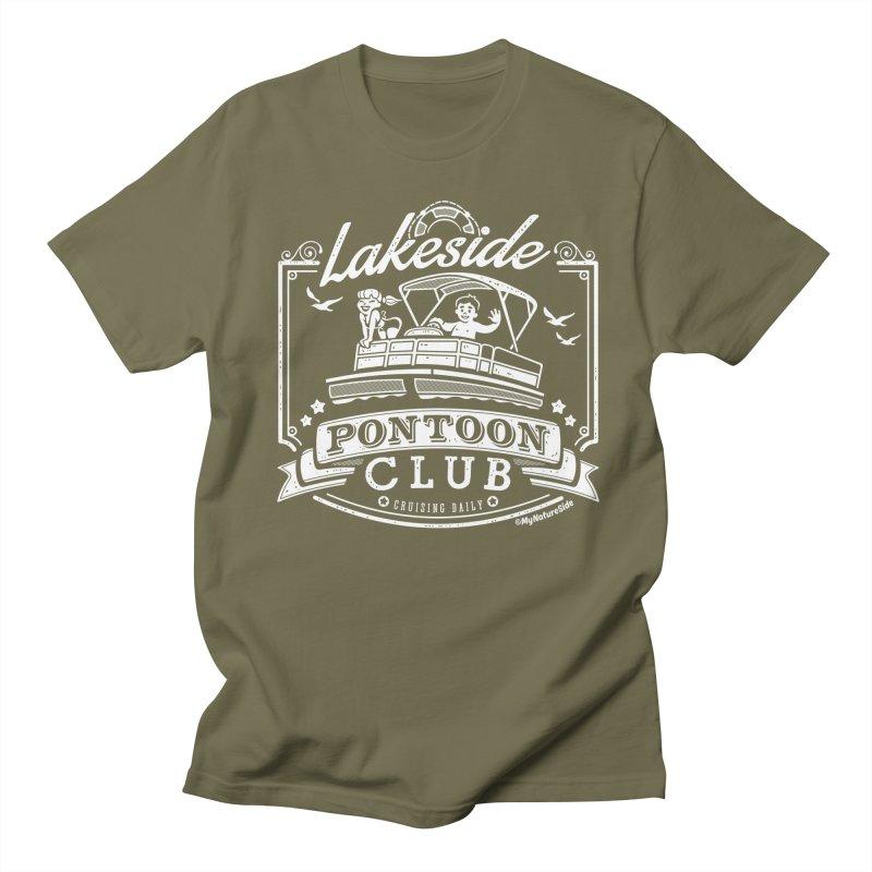 Lakeside Pontoon Club Men's Regular T-Shirt by My Nature Side