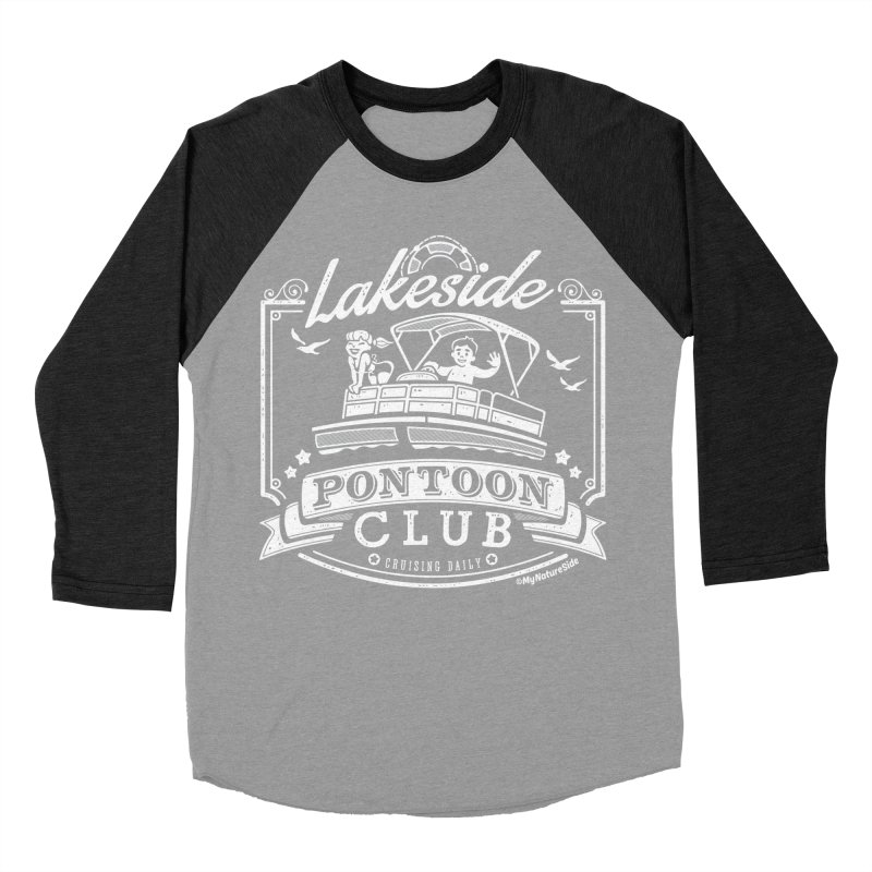 Lakeside Pontoon Club Men's Baseball Triblend Longsleeve T-Shirt by My Nature Side