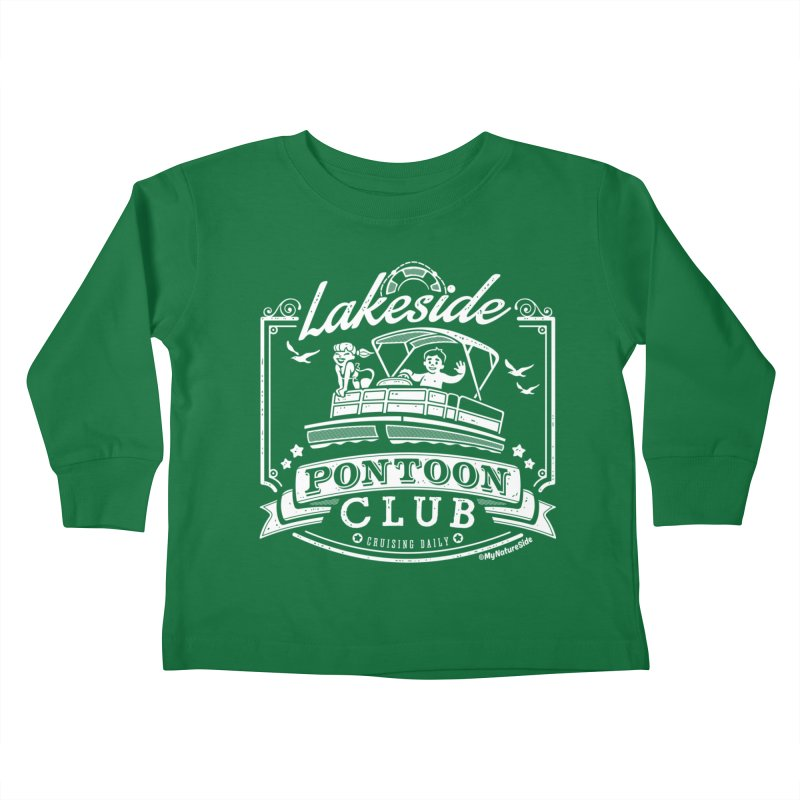 Lakeside Pontoon Club Kids Toddler Longsleeve T-Shirt by My Nature Side
