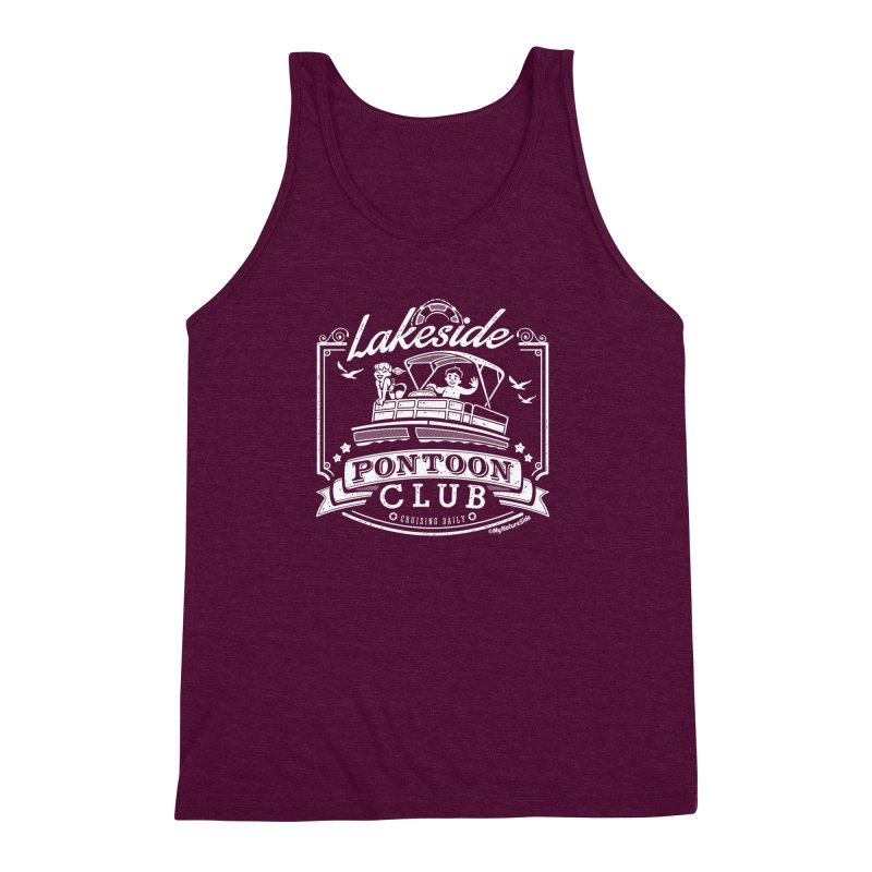 Lakeside Pontoon Club Men's Triblend Tank by My Nature Side
