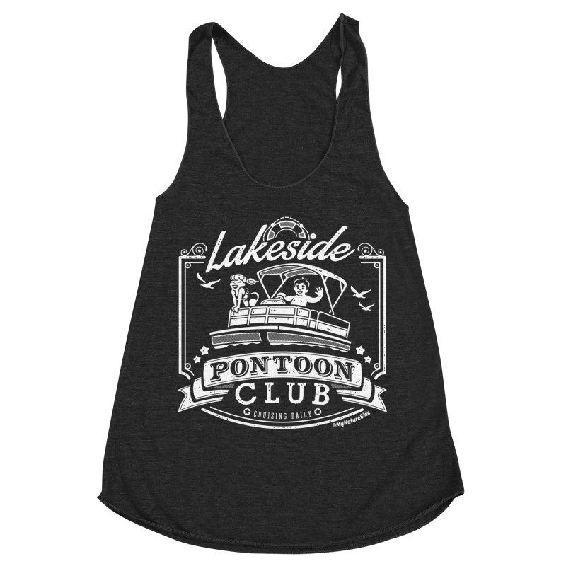 Lakeside Pontoon Club Women's Racerback Triblend Tank by My Nature Side