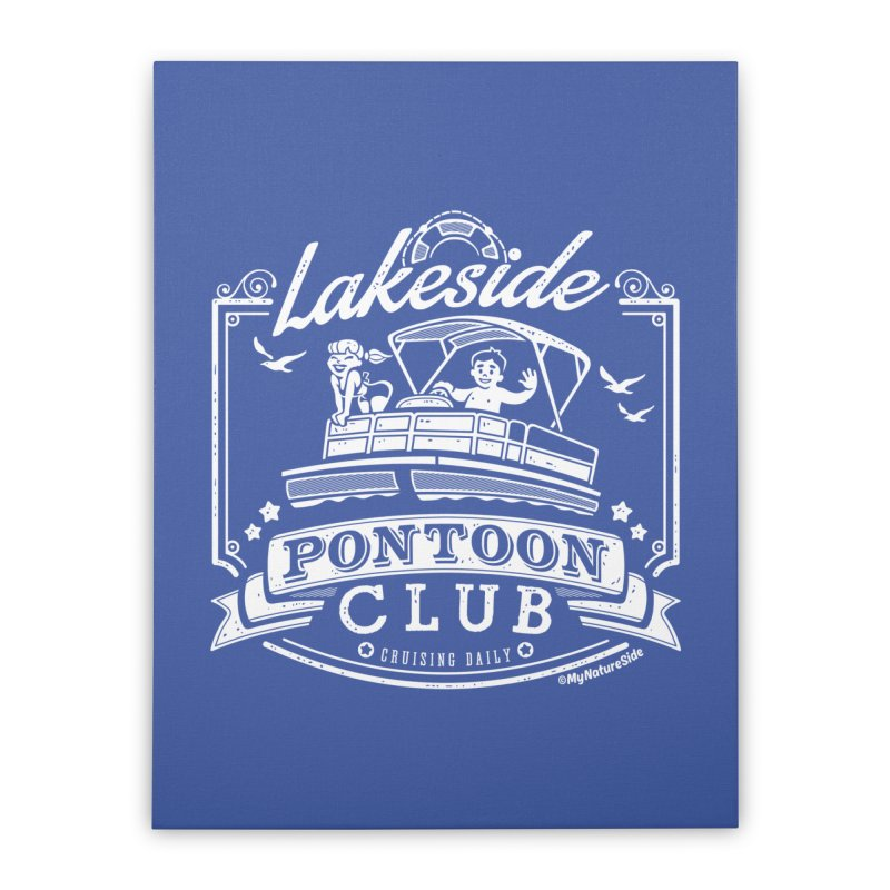 Lakeside Pontoon Club Home Stretched Canvas by My Nature Side