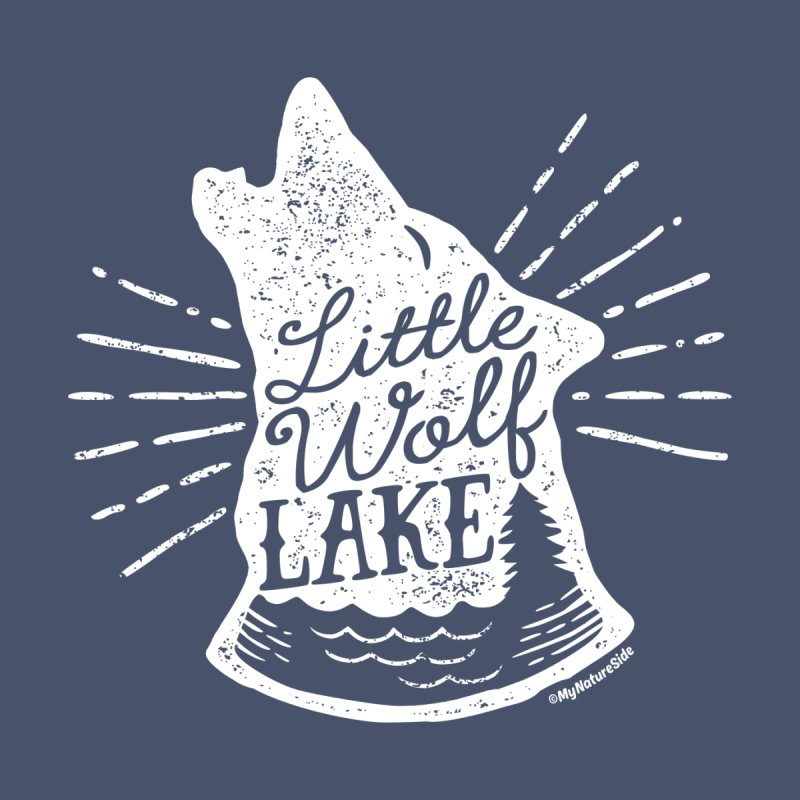 Little Wolf Lake - Howl Kids Longsleeve T-Shirt by My Nature Side