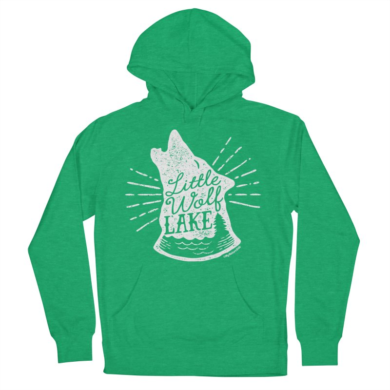 Little Wolf Lake - Howl Women's French Terry Pullover Hoody by My Nature Side