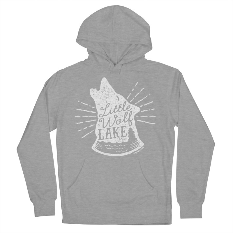 Little Wolf Lake - Howl Men's French Terry Pullover Hoody by My Nature Side