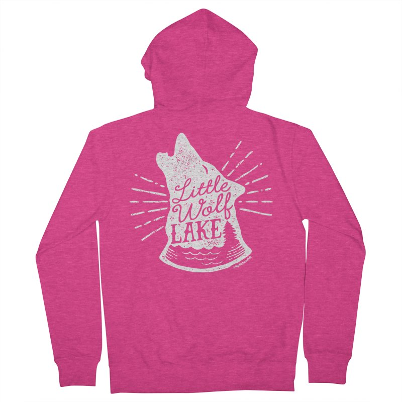 Little Wolf Lake - Howl Women's French Terry Zip-Up Hoody by My Nature Side