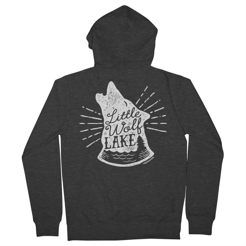 Little Wolf Lake - Howl Men's French Terry Zip-Up Hoody by My Nature Side