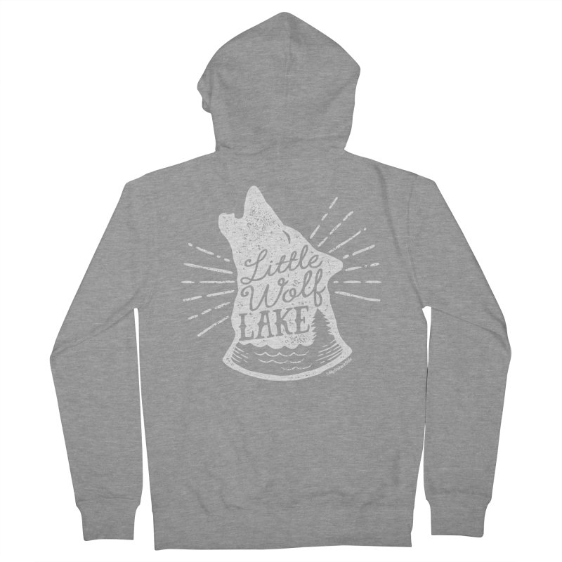 Little Wolf Lake - Howl Men's Zip-Up Hoody by My Nature Side