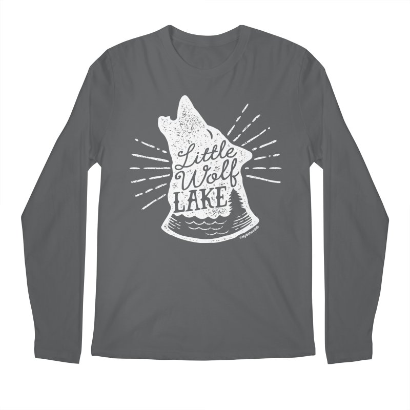 Little Wolf Lake - Howl Men's Regular Longsleeve T-Shirt by My Nature Side