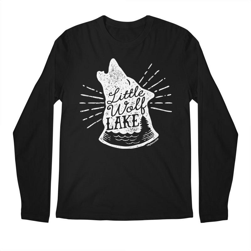 Little Wolf Lake - Howl Men's Regular Longsleeve T-Shirt by My Nature Side