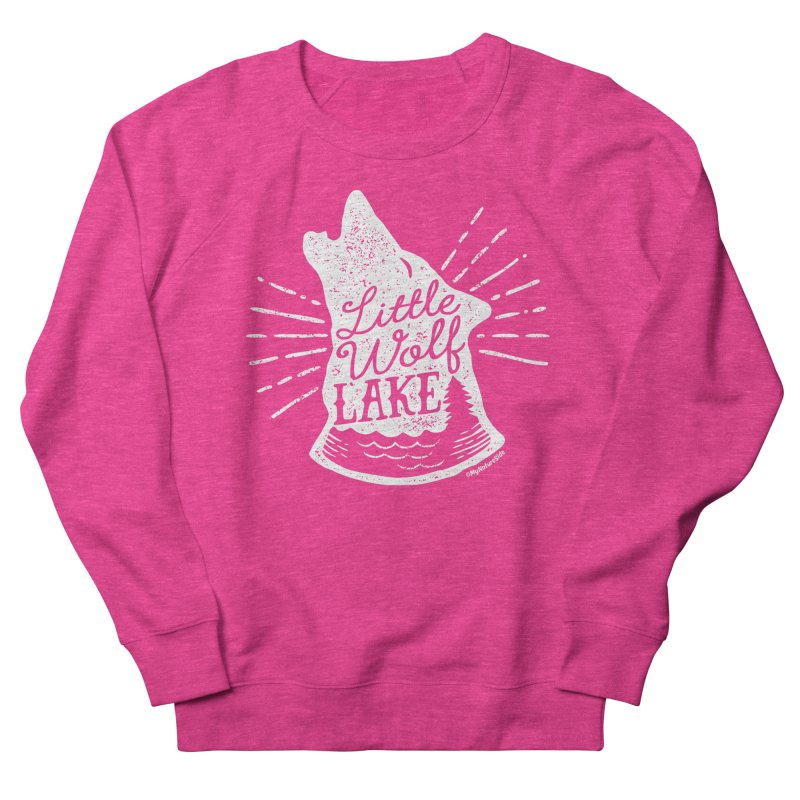Little Wolf Lake - Howl Women's French Terry Sweatshirt by My Nature Side