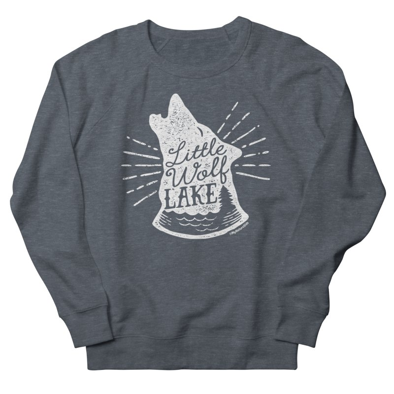 Little Wolf Lake - Howl Men's Sweatshirt by My Nature Side
