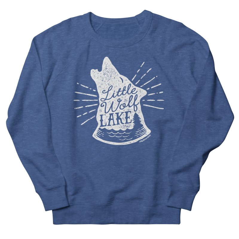 Little Wolf Lake - Howl Men's French Terry Sweatshirt by My Nature Side