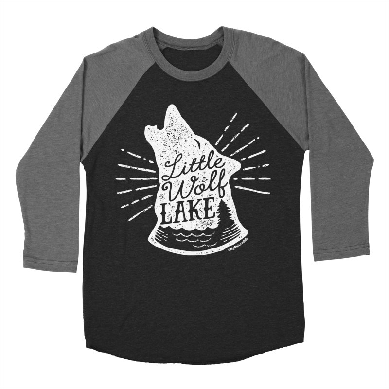 Little Wolf Lake - Howl Women's Baseball Triblend Longsleeve T-Shirt by My Nature Side