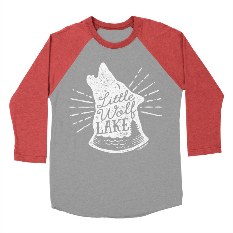 Little Wolf Lake - Howl Men's Baseball Triblend Longsleeve T-Shirt by My Nature Side