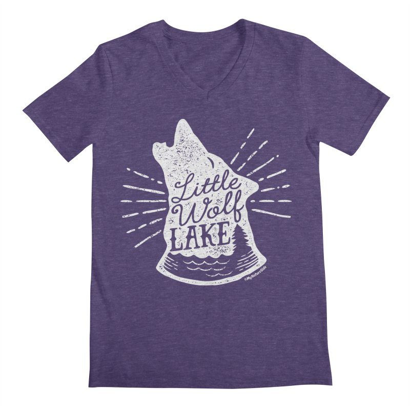 Little Wolf Lake - Howl Men's V-Neck by My Nature Side