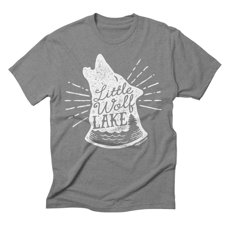 Little Wolf Lake - Howl Men's Triblend T-shirt by My Nature Side