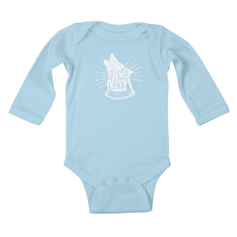 Little Wolf Lake - Howl Kids Baby Longsleeve Bodysuit by My Nature Side