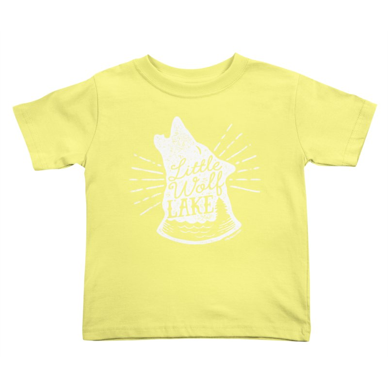 Little Wolf Lake - Howl Kids Toddler T-Shirt by My Nature Side