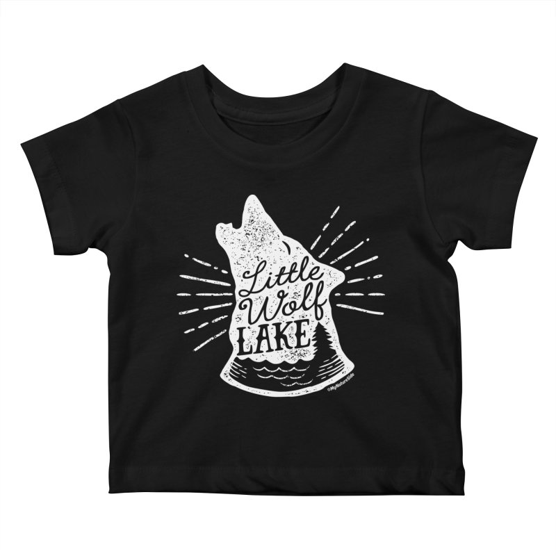Little Wolf Lake - Howl Kids Baby T-Shirt by My Nature Side