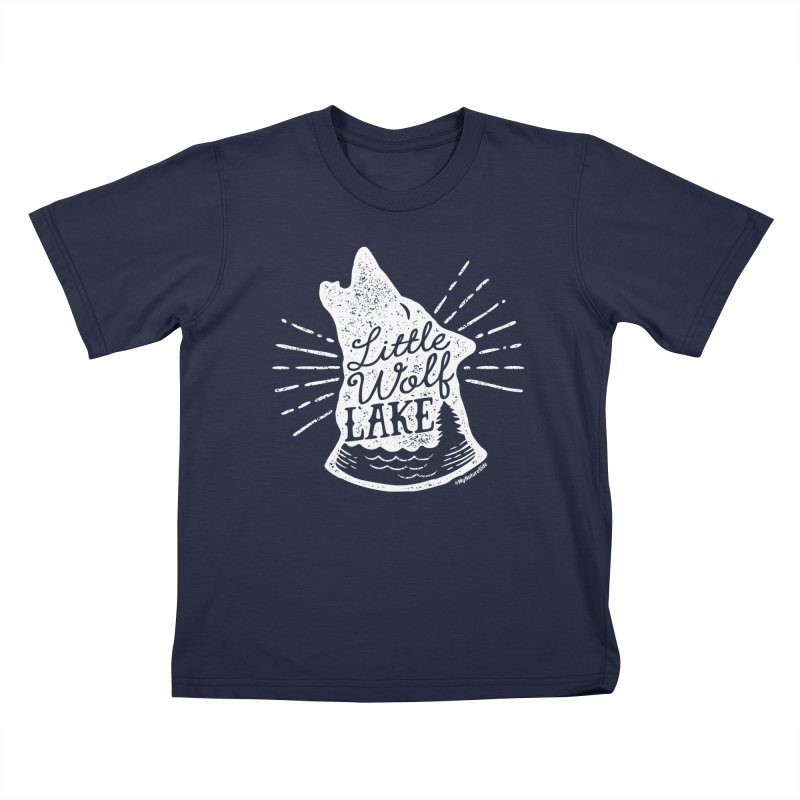 Little Wolf Lake - Howl Kids T-shirt by My Nature Side
