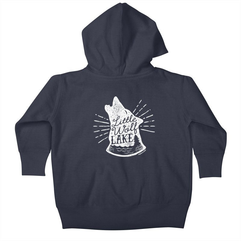 Little Wolf Lake - Howl Kids Baby Zip-Up Hoody by My Nature Side