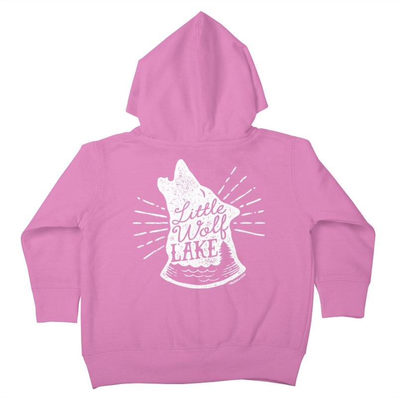Little Wolf Lake - Howl Kids Toddler Zip-Up Hoody by My Nature Side