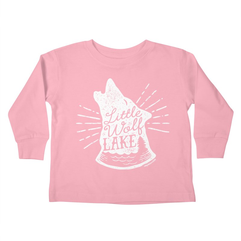 Little Wolf Lake - Howl Kids Toddler Longsleeve T-Shirt by My Nature Side