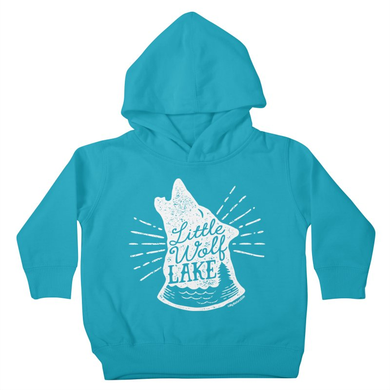 Little Wolf Lake - Howl Kids Toddler Pullover Hoody by My Nature Side