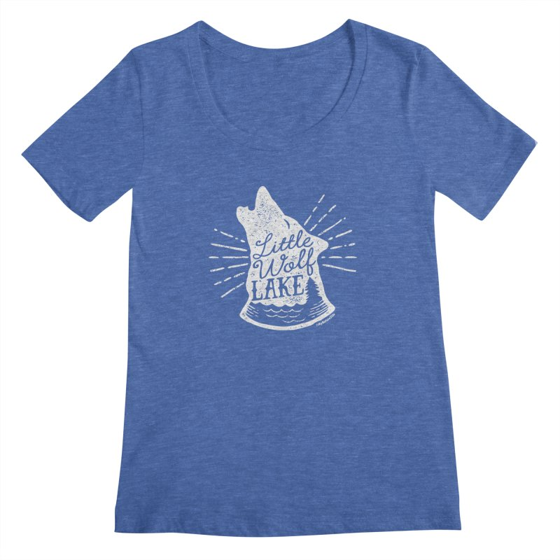 Little Wolf Lake - Howl Women's Regular Scoop Neck by My Nature Side