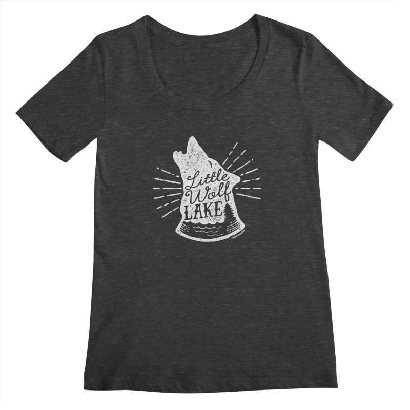 Little Wolf Lake - Howl Women's Scoopneck by My Nature Side
