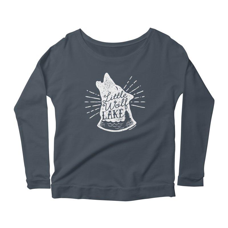Little Wolf Lake - Howl Women's Scoop Neck Longsleeve T-Shirt by My Nature Side