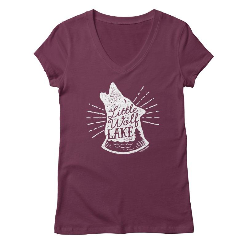 Little Wolf Lake - Howl Women's Regular V-Neck by My Nature Side