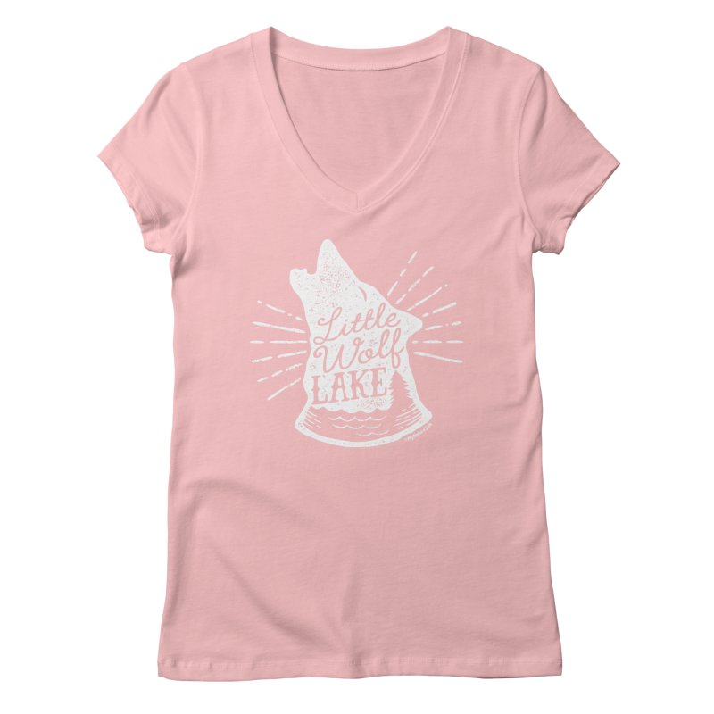 Little Wolf Lake - Howl Women's Regular V-Neck by My Nature Side