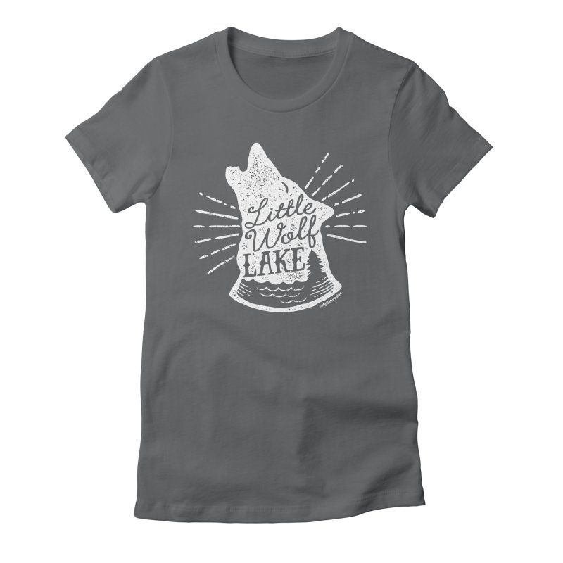 Little Wolf Lake - Howl Women's Fitted T-Shirt by My Nature Side