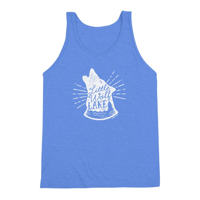Little Wolf Lake - Howl Men's Triblend Tank by My Nature Side