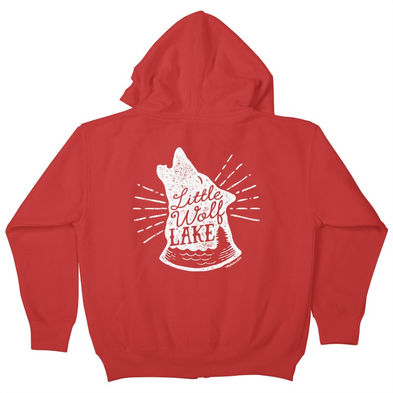 Little Wolf Lake - Howl Kids Zip-Up Hoody by My Nature Side