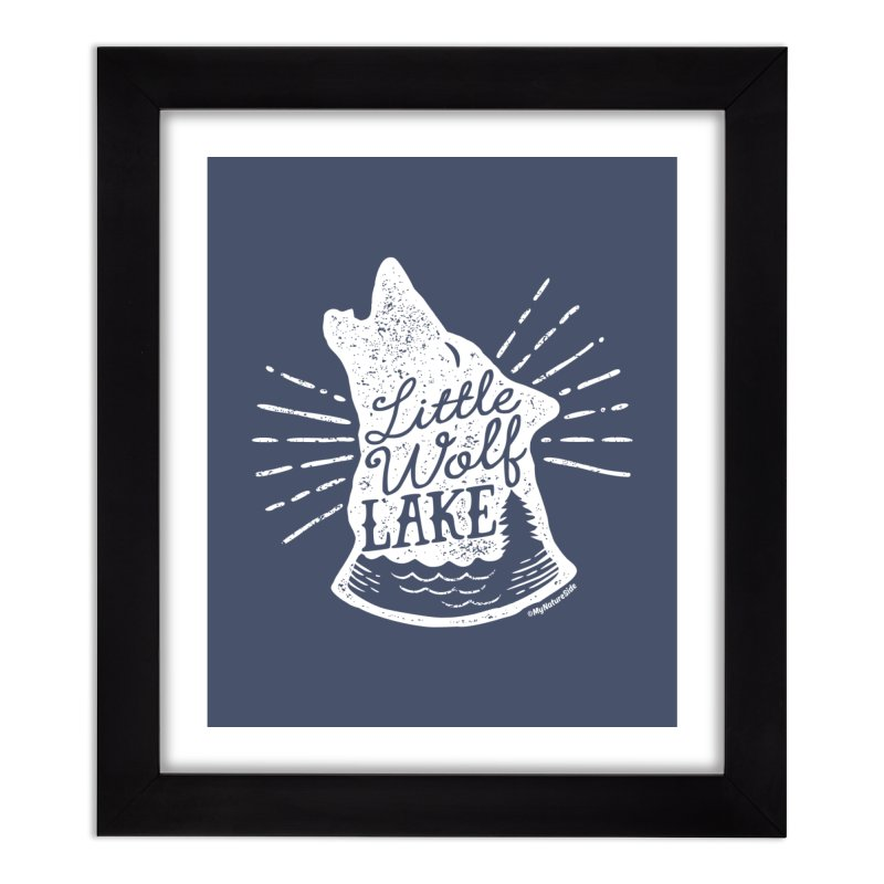 Little Wolf Lake - Howl Home Framed Fine Art Print by My Nature Side