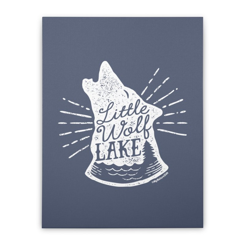 Little Wolf Lake - Howl Home Stretched Canvas by My Nature Side