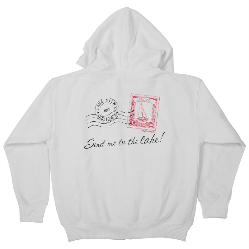Send Me To The Lake Kids Zip-Up Hoody by My Nature Side
