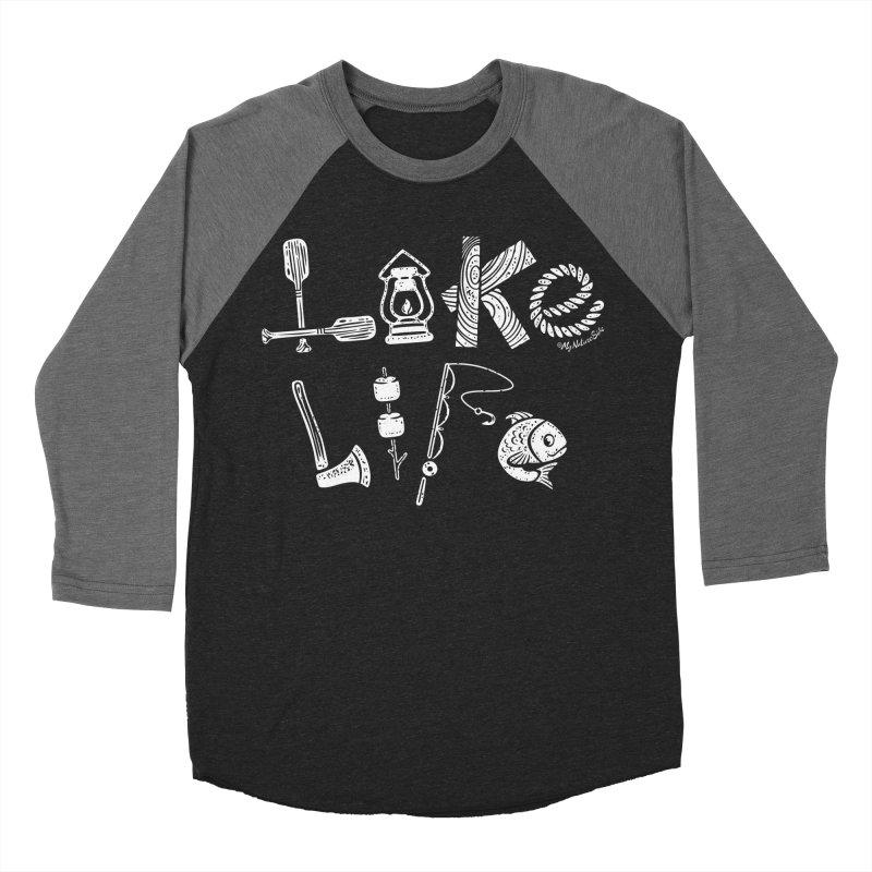Lake Life - Icons Men's Baseball Triblend Longsleeve T-Shirt by My Nature Side