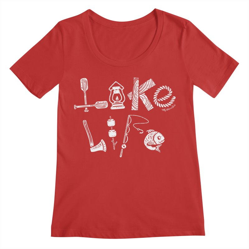Lake Life - Icons Women's Scoop Neck by My Nature Side