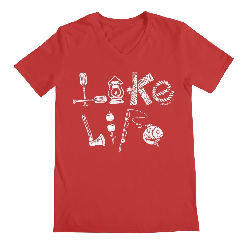 Lake Life - Icons Men's Regular V-Neck by My Nature Side